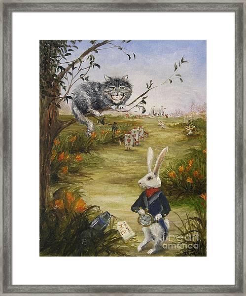 Down A Rabbit Hole Framed Print by Stella Violano
