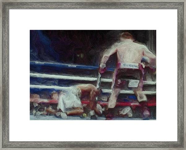Down For The Count Framed Print