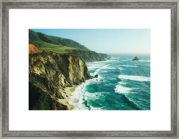Down The Pacific Coast Highway... Framed Print