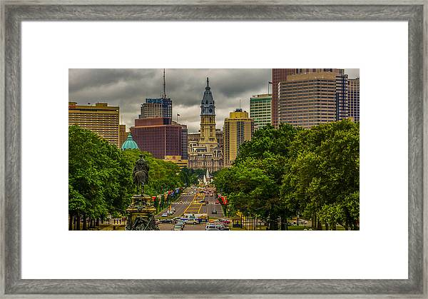 Down The Parkway Framed Print