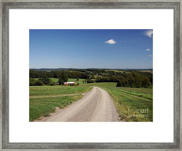 Down The Road A Bit Framed Print