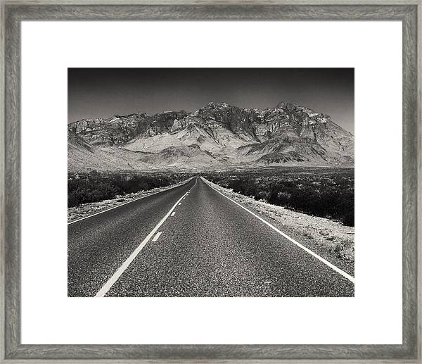 Down The Road Framed Print