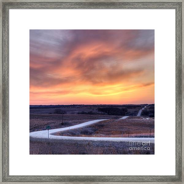 Down To The Rolling Hills Framed Print