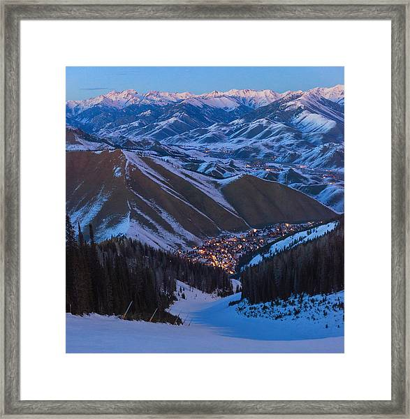 Down To Warm Springs Framed Print