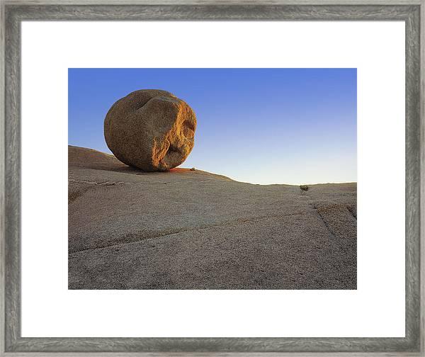 Downhill Roller Framed Print