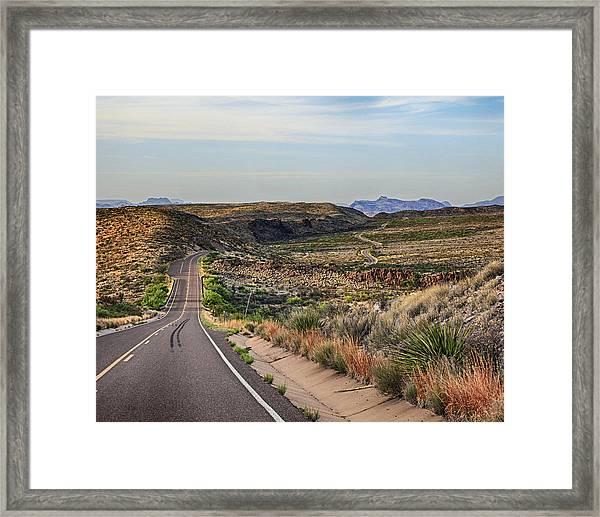 Downhill Run Framed Print