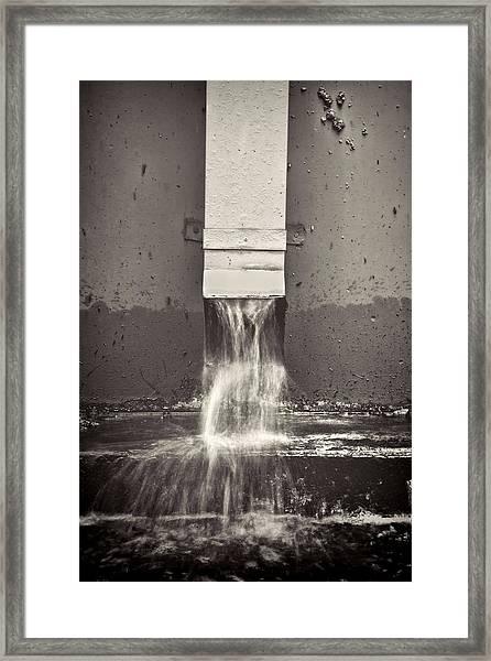 Downspout Framed Print