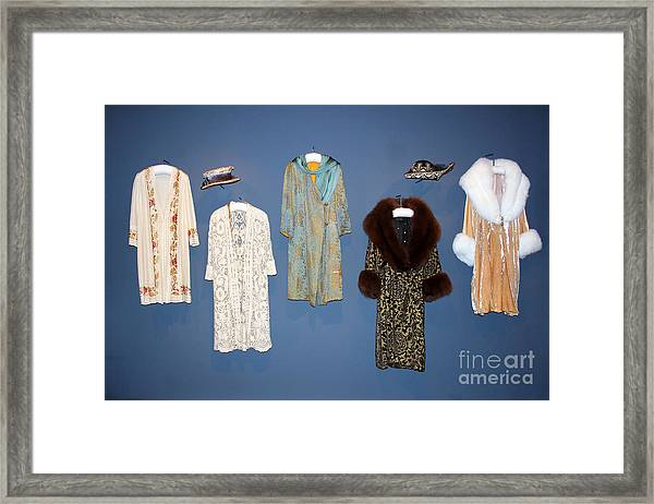 Downton Abbey Clothes Framed Print