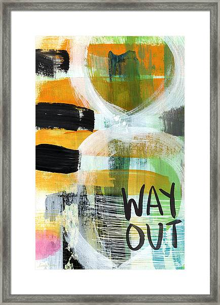 Downtown- Abstract Expressionist Art Framed Print