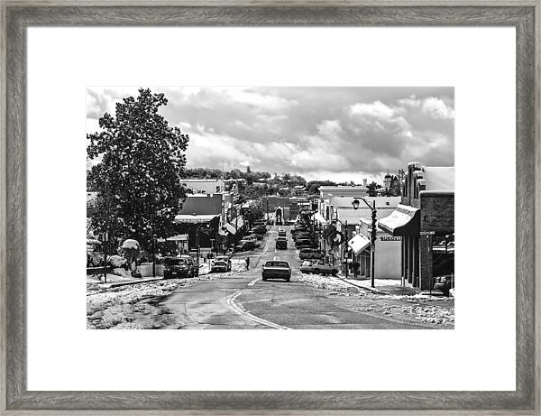 Downtown Auburn In The Snow 2 Framed Print