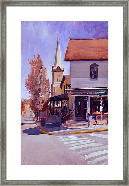 Downtown Cedarburg Framed Print by Anthony Sell
