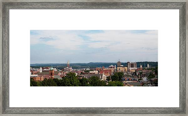 Downtown Dubuque Framed Print