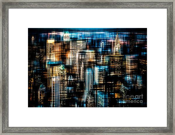 Downtown II - Dark Framed Print