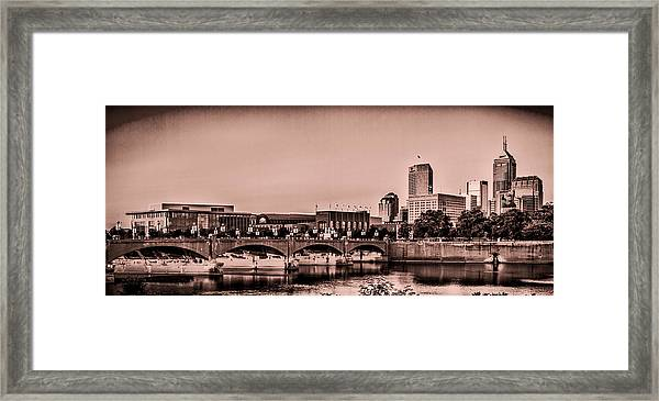 Downtown Indianapolis Framed Print