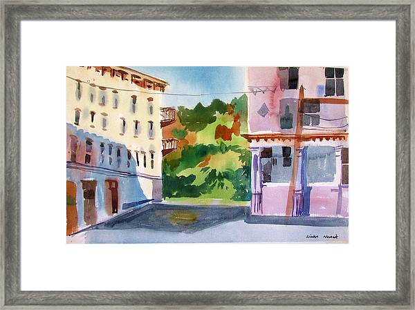 Downtown Kingston New York Framed Print
