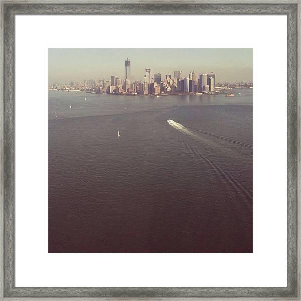 Downtown New York City Skyline Framed Print