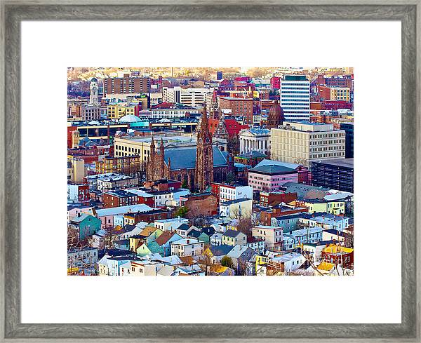 Downtown Paterson Framed Print