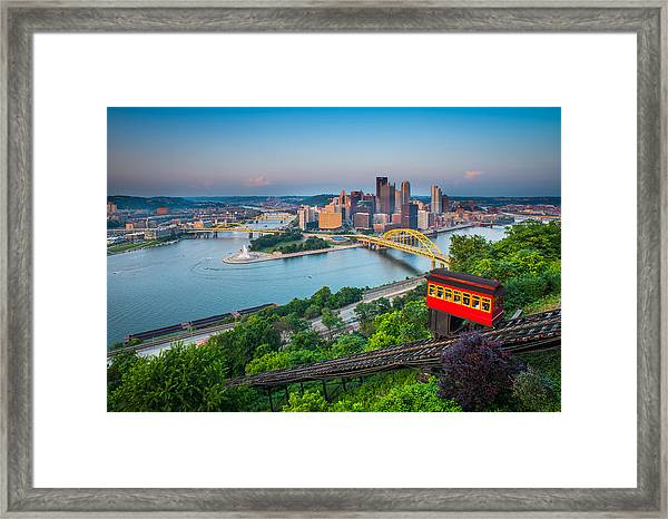 Downtown Pittsburgh, Pennsylvania Framed Print by HaizhanZheng