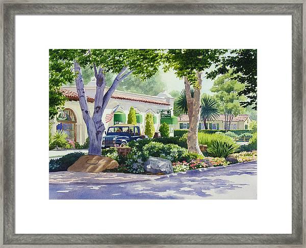 Downtown Rancho Santa Fe Framed Print by Mary Helmreich
