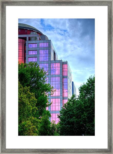 Downtown Reflections 17341 Framed Print