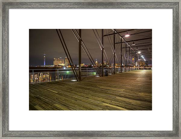 Downtown San Antonio From The Hays Street Bridge Framed Print