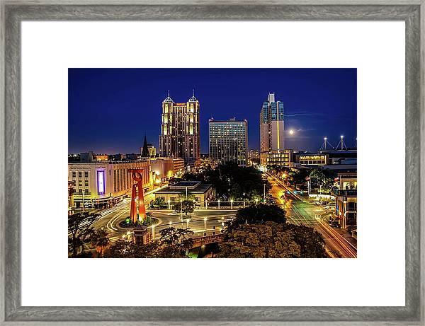 Downtown San Antonio Framed Print