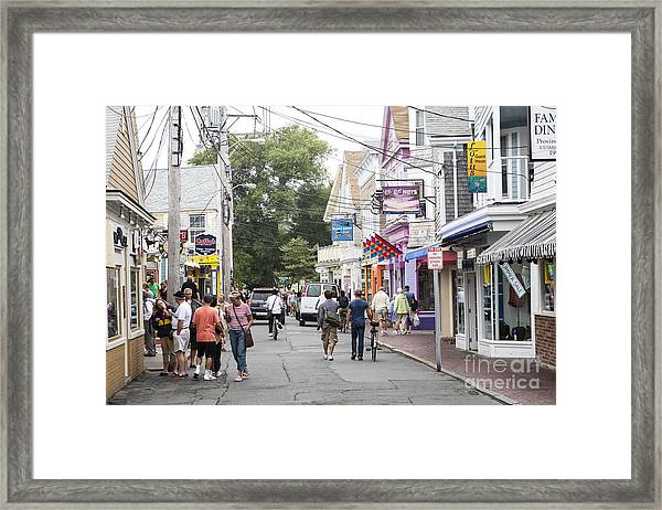 Downtown Scene In Provincetown On Cape Cod In Massachusetts Framed Print