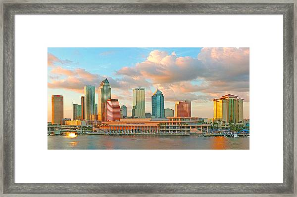 Downtown Tampa Skyline Framed Print