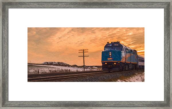 Downtown Train Framed Print