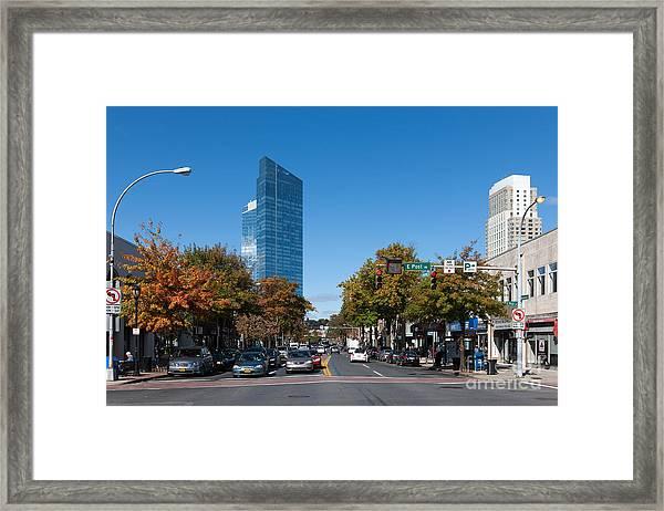 Downtown White Plains New York IIi Framed Print