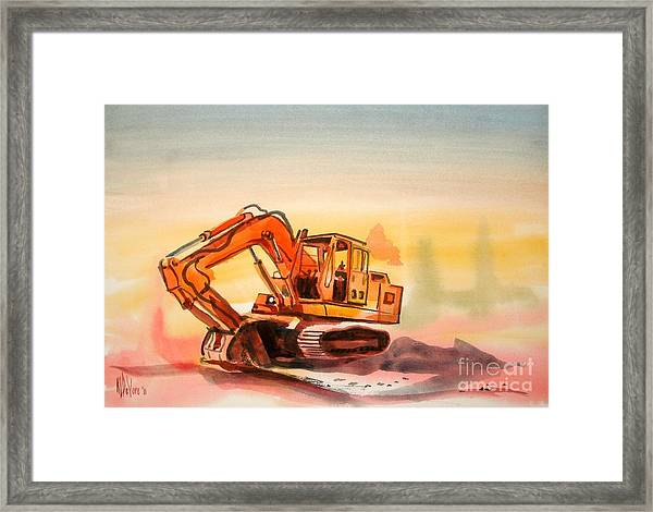 Dozer In Watercolor  Framed Print