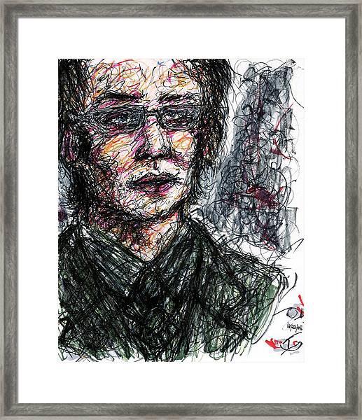 Dr. Jonathan Crane Aka The Scarecrow Framed Print