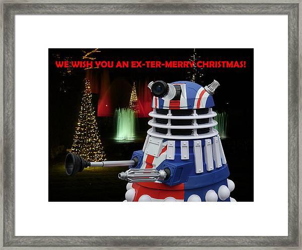 Dr Who - Dalek Christmas Framed Print