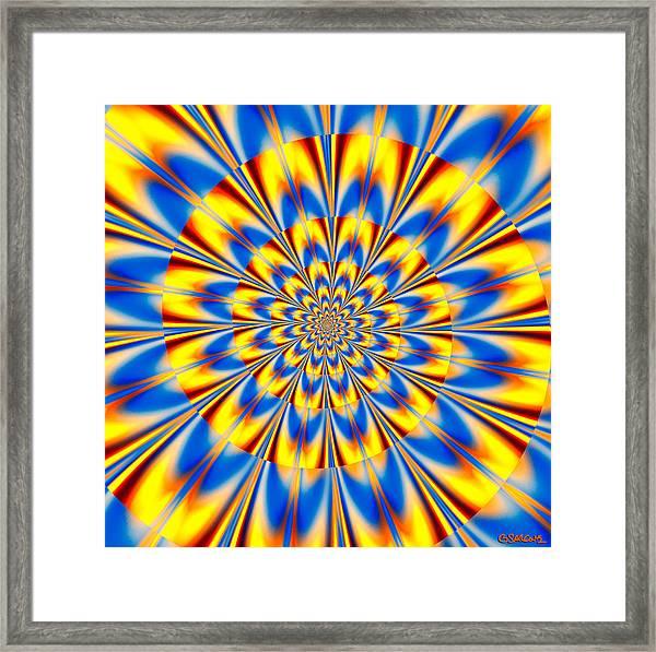 Dr. Who's Spiral Of Time Framed Print