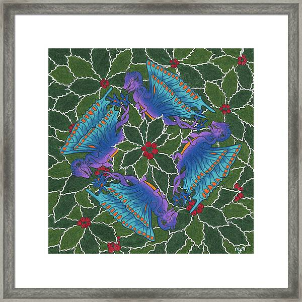 Dragondala Winter Framed Print