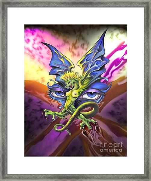 Dragons Eyes By Spano Framed Print