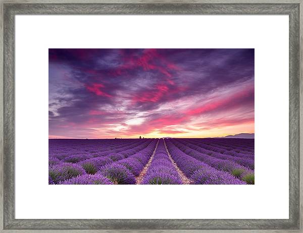 Drama In The Sky Framed Print