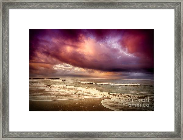Dramatic Beach Framed Print