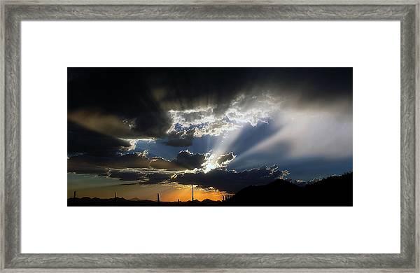 Dramatic Monsoon Sunset Framed Print