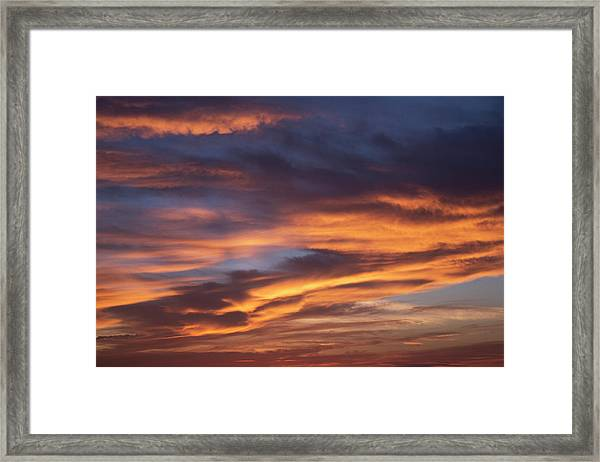 Dramatic Sunset With Some Beautiful Framed Print