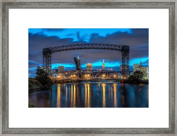 Draw Bridge At Dawn Framed Print