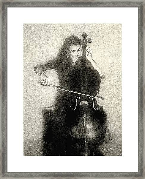 Drawing The Bow Framed Print