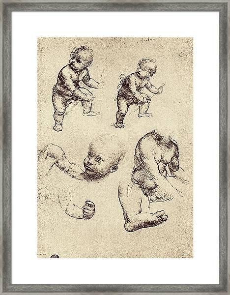 Drawings Of A Child Framed Print by Sheila Terry
