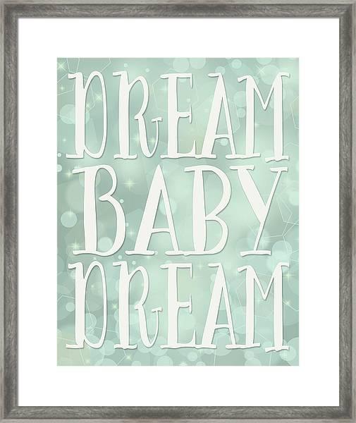 Dream Baby Dream Bokeh Framed Print