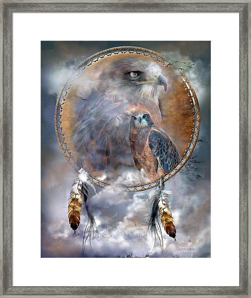 Dream Catcher - Hawk Spirit Framed Print