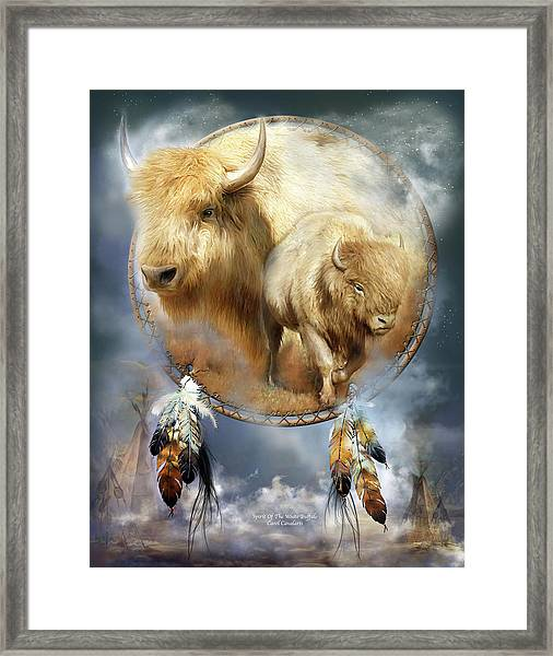 Dream Catcher - Spirit Of The White Buffalo Framed Print
