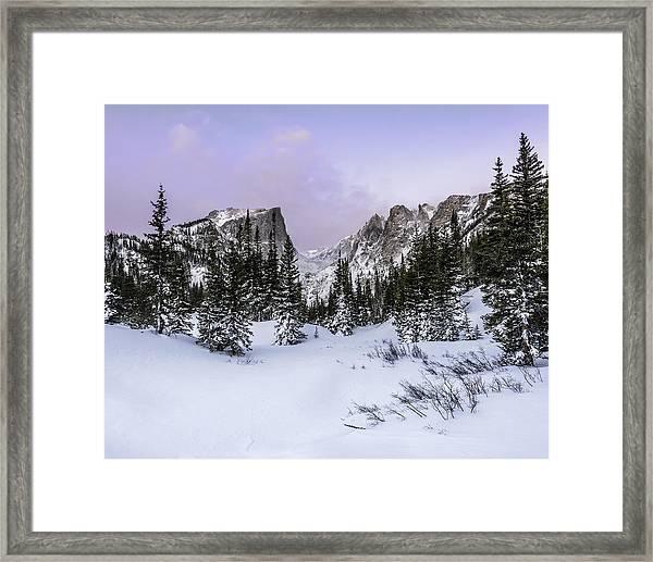 Dream Lake Sunrise Framed Print by Robert Yone
