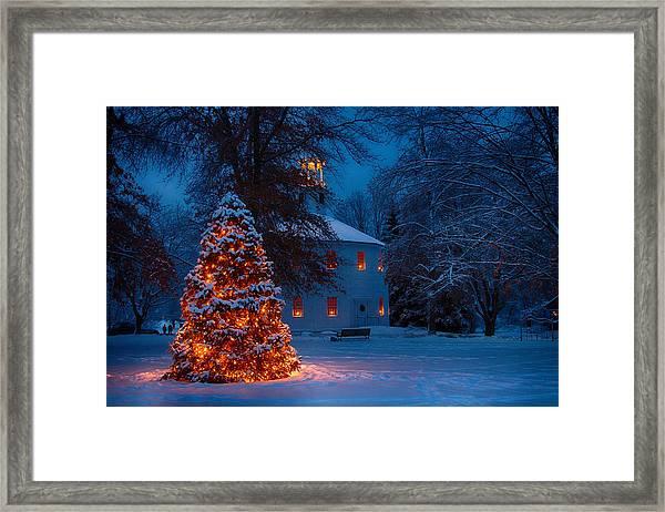 Christmas At The Richmond Round Church Framed Print