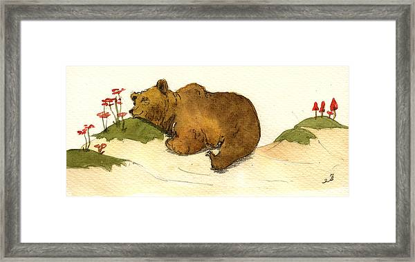 Dreaming Grizzly Bear Framed Print
