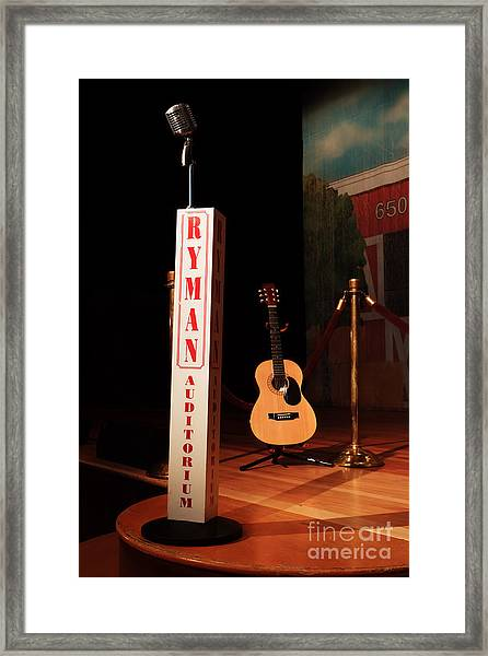 Dreaming Of Playing The Ryman Framed Print